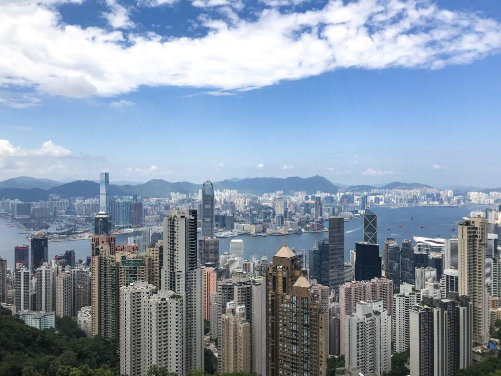 Uitzicht op Hong Kong vanaf The Peak.