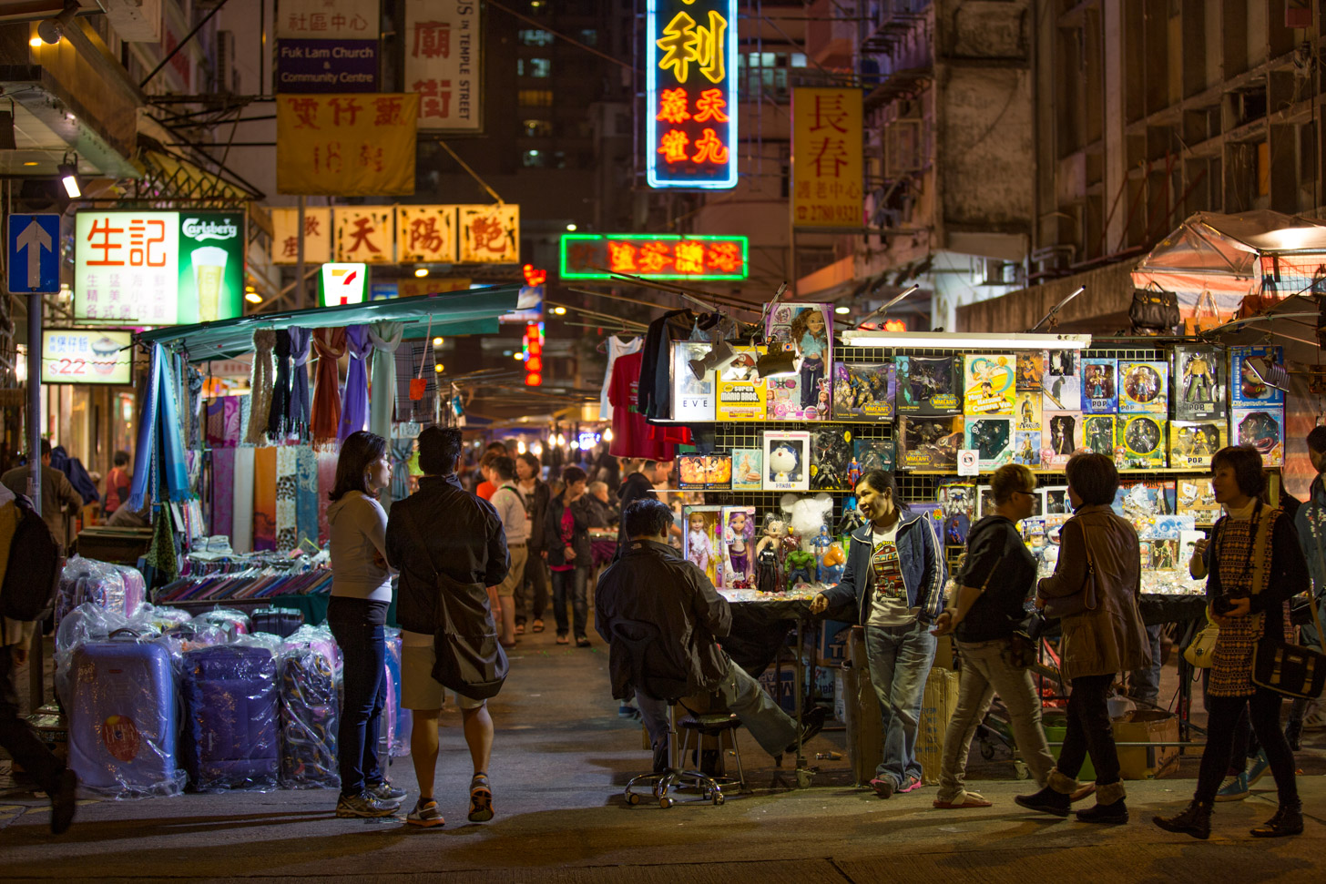 De beroemde Temple Street Night Market