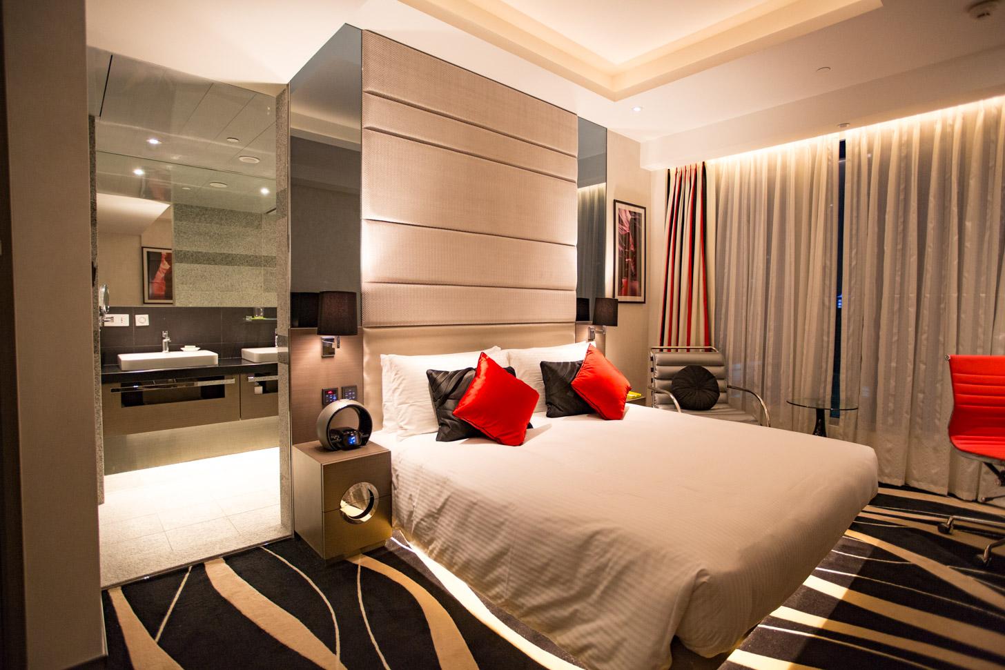 De heerlijke bedden van het Madera Hong Kong Hotel